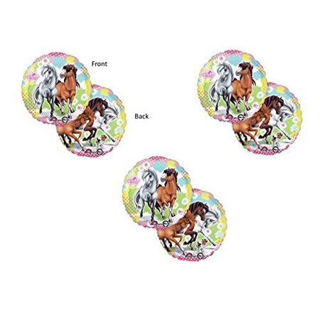 Charming Horses X3 Cowgirl BIRTHDAY PARTY Balloons Decorations Supplies](Horse Theme Party Supplies)