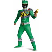 Green Power Ranger Dino Charge Classic Muscle Child Halloween Costume