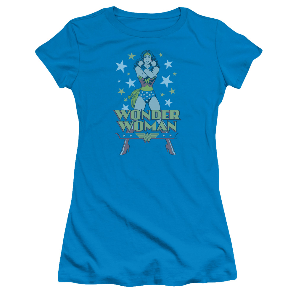 Trevco DC A WONDER Turquoise Juniors Female T-Shirt