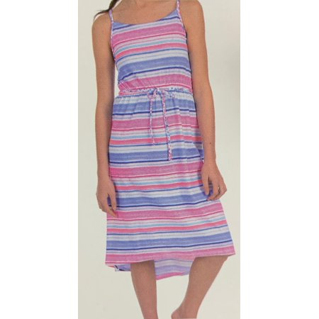 Juicy Couture Girls Summer Dress, Stripe, Large 10/12 - NEW Juicy Couture Crown Charm