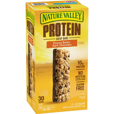 Nature Valley Peanut Butter Dark Chocolate Protein Chewy Bars (1.42 oz., 30 ct.) x2