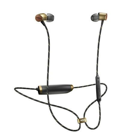 House of Marley Uplift 2 Wireless Rechargeable Bluetooth Audio Earphones, -