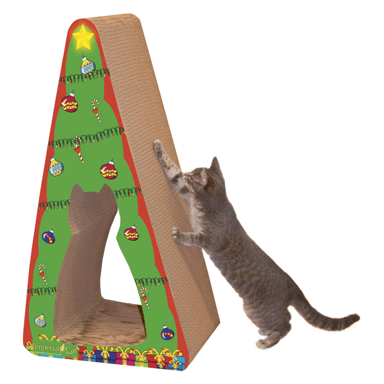 Imperial Cat Holiday Scratch n Shapes Giant Christmas Tree Cat Toy