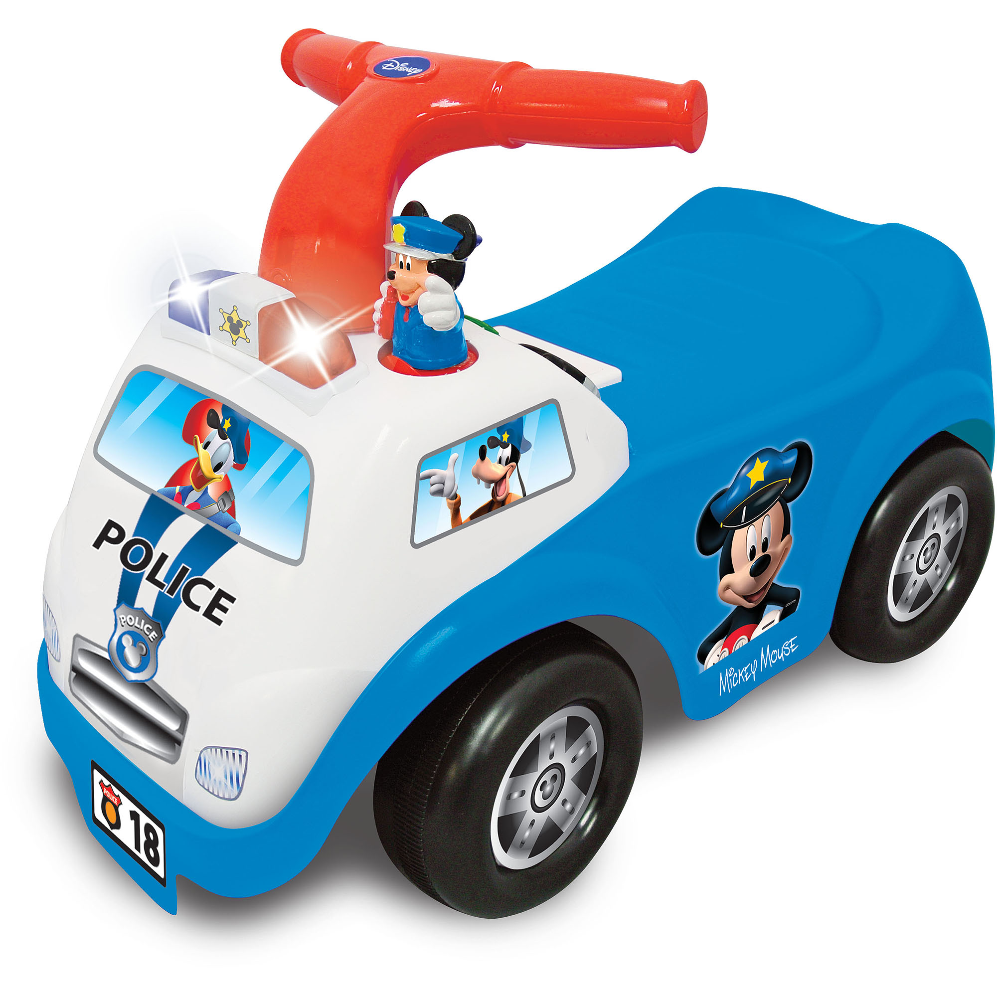 Kiddieland Disney Mickey Mouse Police Drive Along Ride-On by Kiddieland