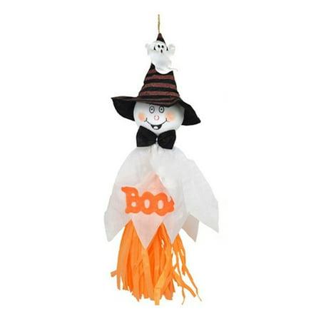 AkoaDa 1 Pc 33x17cm Cute Ghost Hanging Hangtag Halloween Decoration Kids Funny Joke - Halloween Jokes Printable