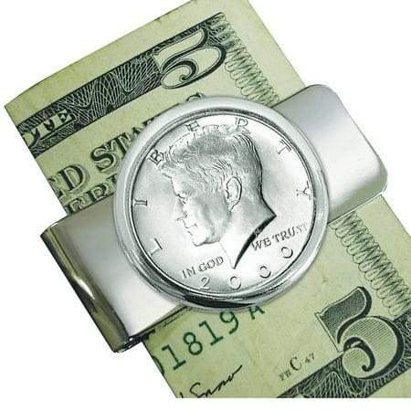 Silvertone JFK Half Dollar Coin Money Clip Dollar Coin Money Clip