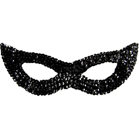 Sequin Cat Adult Halloween Mask Accessory - Silver Shamrock Halloween Mask
