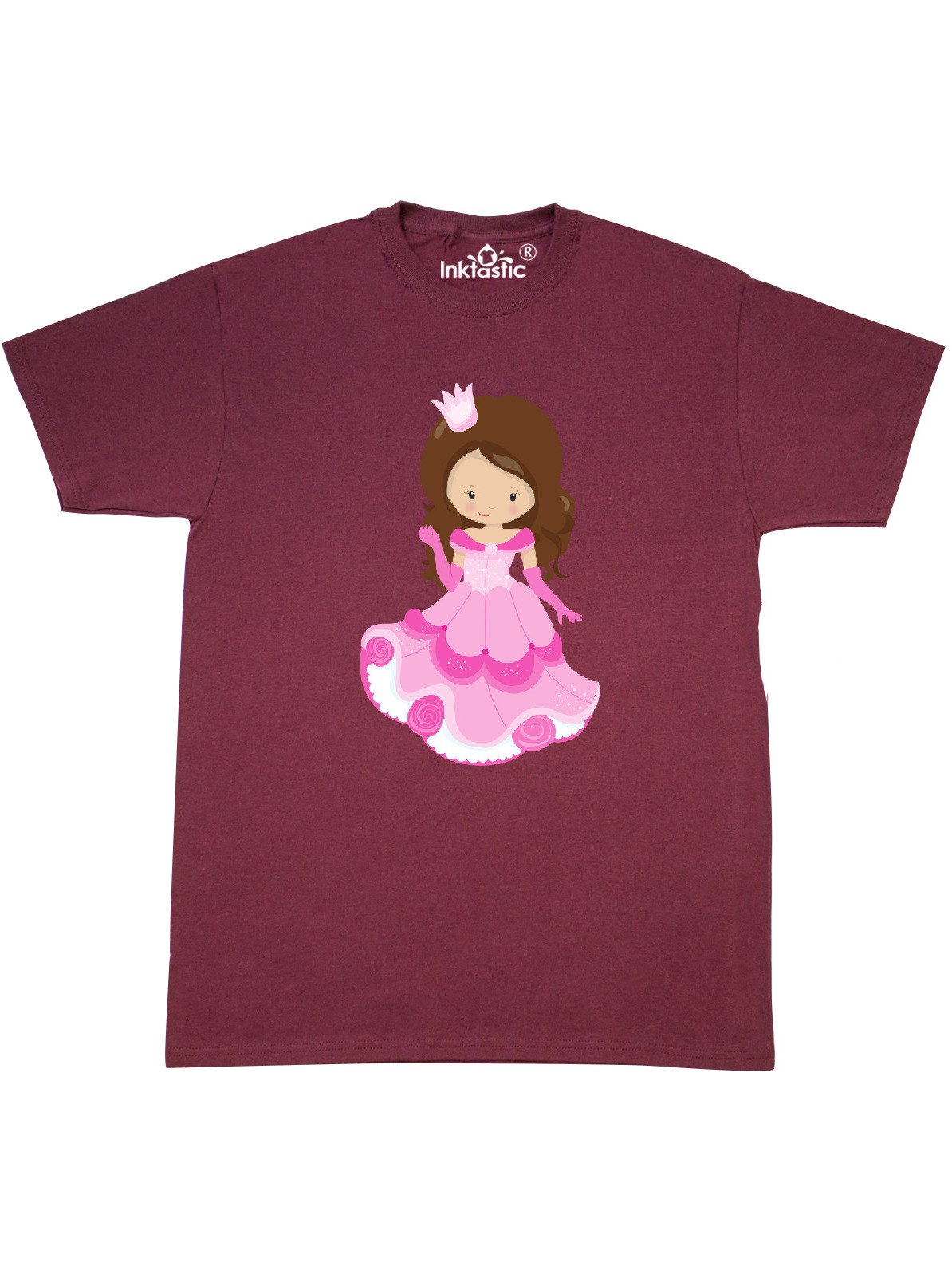 Princess in Pink Dress Toddler T-Shirt inktastic Cute Princess Orange Hair