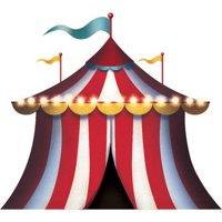 "Carnival Tent Cardboard Cutout Standup, 9'8""W x 8'H"