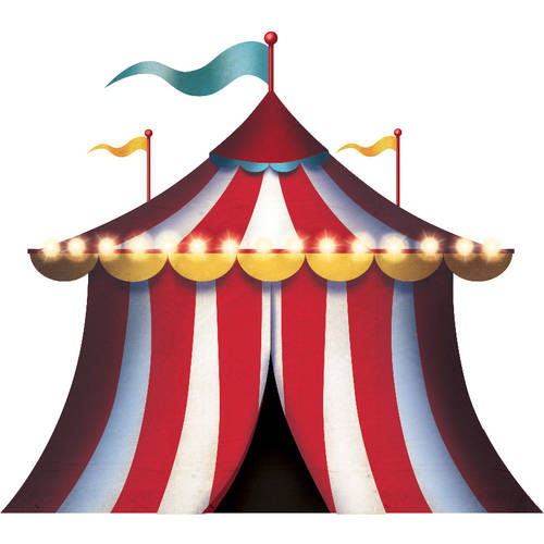 Carnival Spectacular Tent Standee