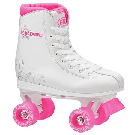 Roller Derby Girls' Roller Star 350 Quad Skates - White/Pink 1