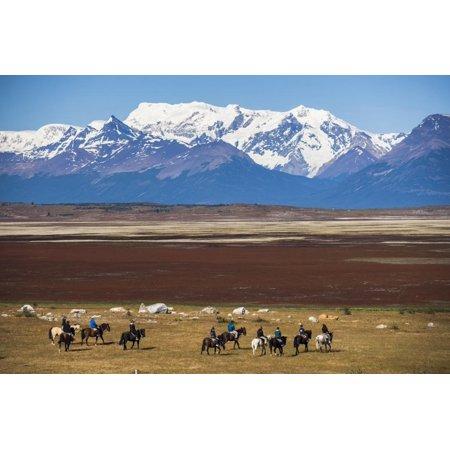 Horse Trek on an Estancia (Farm), El Calafate, Patagonia, Argentina, South America Print Wall Art By Matthew