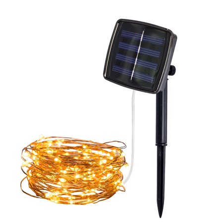 Iuhan 5M 50Lights Outdoor Solar Powered Copper Wire Light String Fairy Party Decor