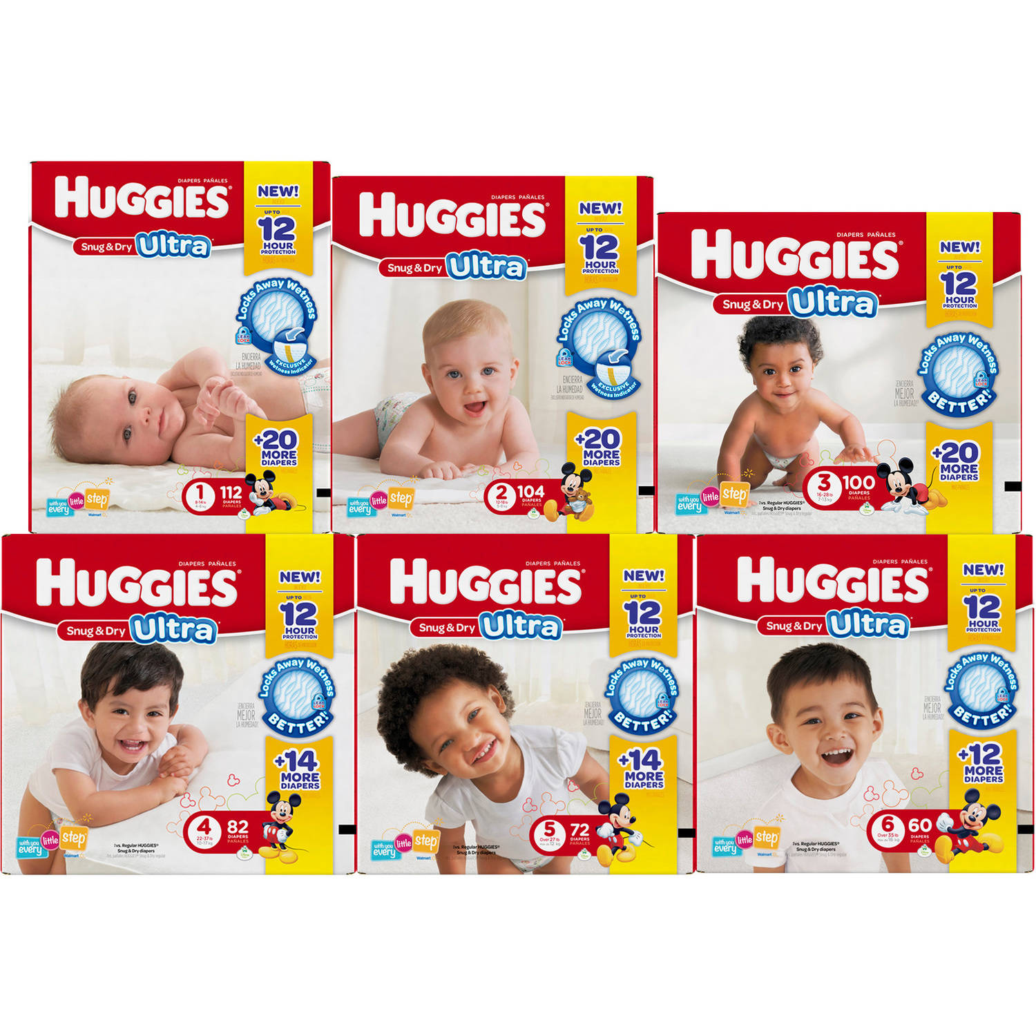 Huggies Snug & Dry Diapers Big Pack, Size 1, 112 ct - Walmart.com