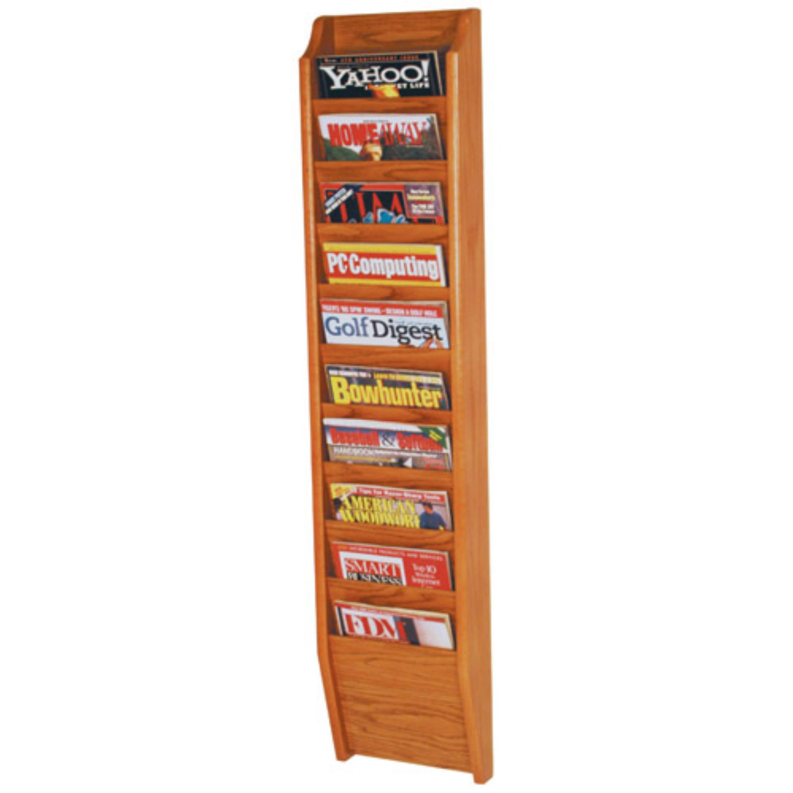 10-Pocket Wall Magazine Rack by Luggage Pros