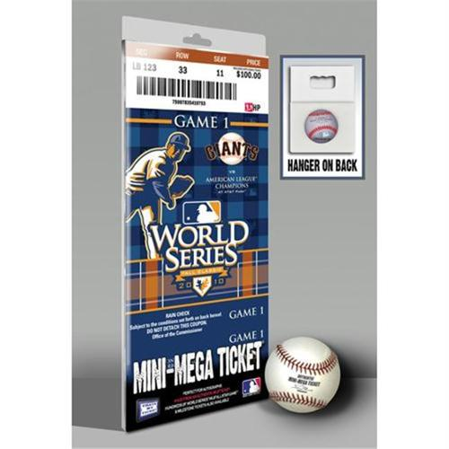 2010 World Series Mini Mega Ticket - San Francisco Giants San Francisco Giants TFMMBBSFRWS10