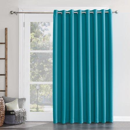 sun zero conrad extra wide blackout sliding patio door curtain panel. Black Bedroom Furniture Sets. Home Design Ideas