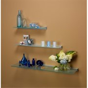 Amore Designs GCE1248CL Glace Clear Glass Shelf, 12 x 48 inch