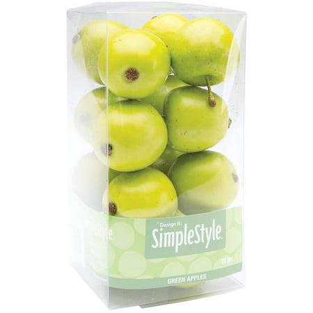 Design It Simple Decorative Fruit, Mini Green Apples, 15 per -