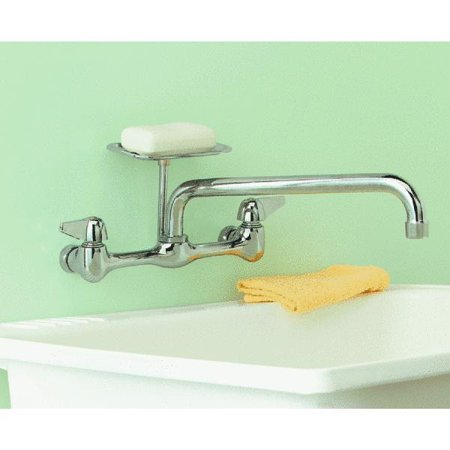 2 Lever Handle Wall Mount Kitchen Faucet