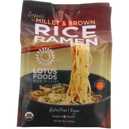 Lotus Foods Ramen - Organic - Millet and Brown Rice - 4 Ramen Cakes - 10 oz - case of