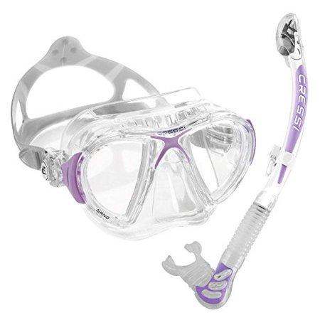Cressi-Nano-Crystal-Mask-Snorkel-Set-Lilac-Made-In-Italy-