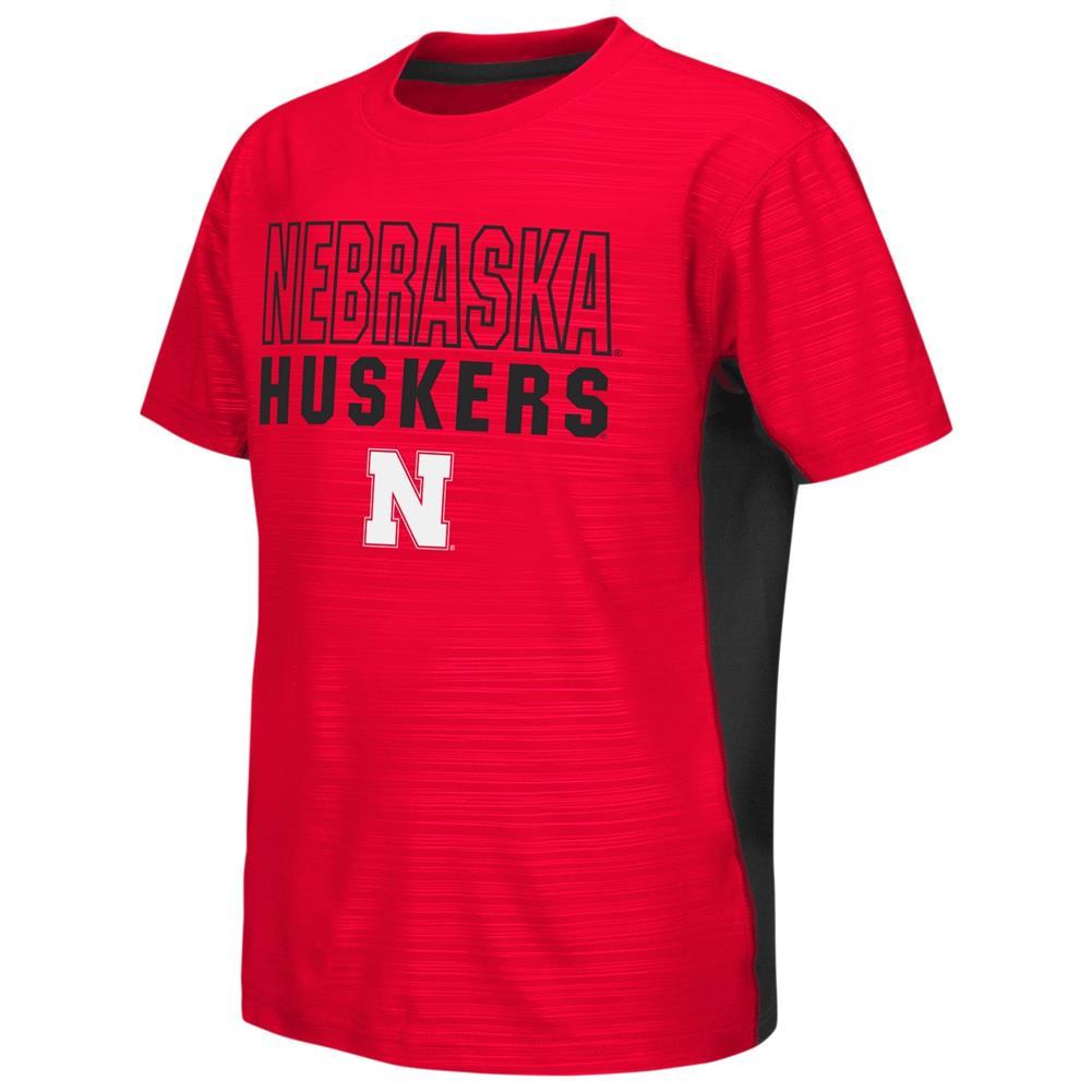 Nebraska Cornhuskers Youth Tee Performance Poly Logo T-Shirt
