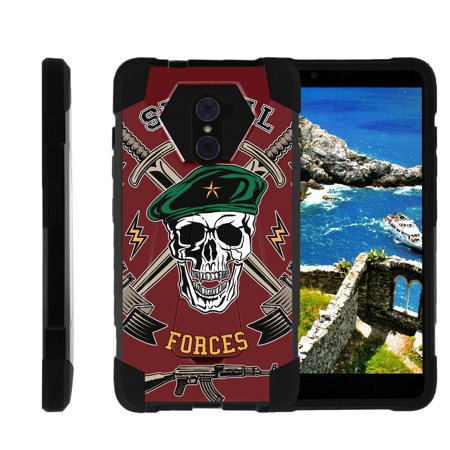 TurtleArmor ® | For ZTE Kirk | Imperial Max | Max Duo | Grand X Max 2 [Dynamic Shell] Dual Layer Hybrid Silicone Hard Shell Kickstand Case - Special Forces (Dynamic Duos Ideas)