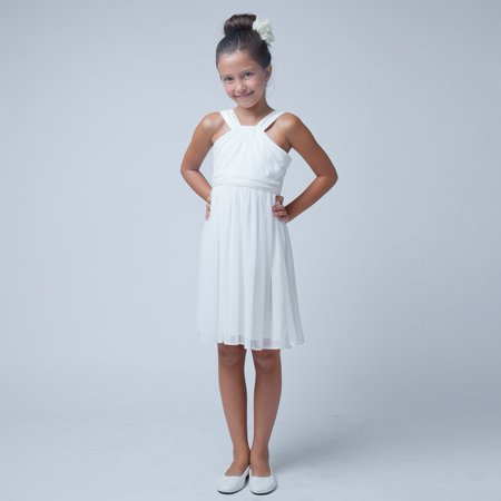 Sweet Kids Girls Off White Crossover Special Occasion Easter Dress 7-16 Childrens Occasion Dresses