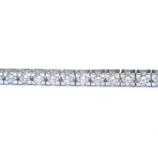 Harry Chad HC10975 5.10 CT Channel Set Round Cut Diamonds Bracelet, White Gold 14K - Color G - VS2 Clarity - image 1 de 1