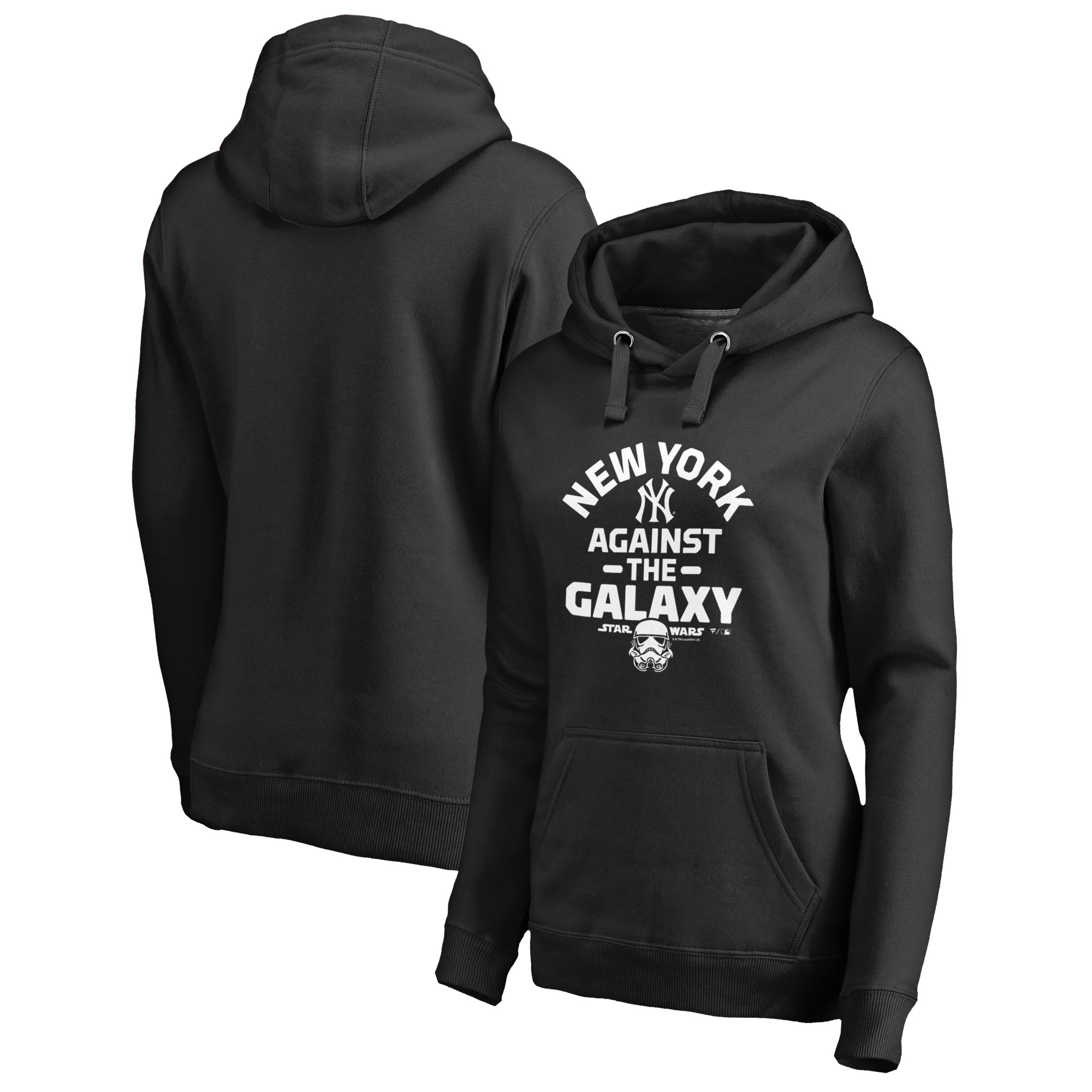 New York Yankees Fanatics Branded Women's MLB Star Wars Against The Galaxy Pullover Hoodie - Black