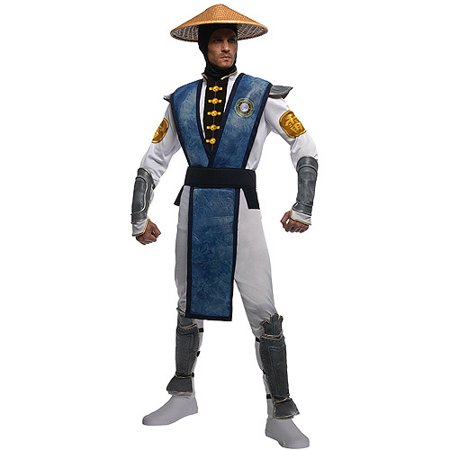 Mortal Kombat Raiden Adult Halloween Costume (Kids Mortal Kombat Scorpion Costume)