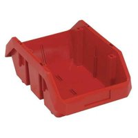 Quantum Storage Systems 50 lb Capacity, Cross-Stacking Bin, Double Hopper, Red QP1496RD