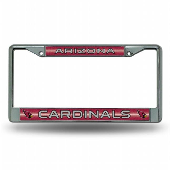 Rico Industries RIC-FCGL3601 Arizona Cardinals NFL Bling Glitter Chrome License Plate Frame - image 1 de 1
