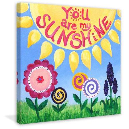 Marmont Hill 'Sunshine Flowers' by Nicola Joyner Painting Print Canvas Art