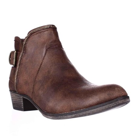 - Womens AR35 Edee Ankle Booties, Chocolate