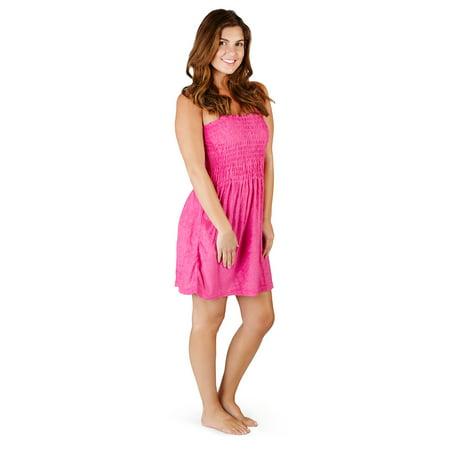 SunDress Solid Color Khee High - Terry - Tank Top Women (Racerback Terry Dress)
