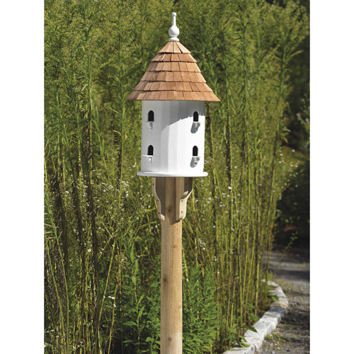 Lazy Hill Farm Designs Lazy Hill Bird House, Redwood and Vinyl