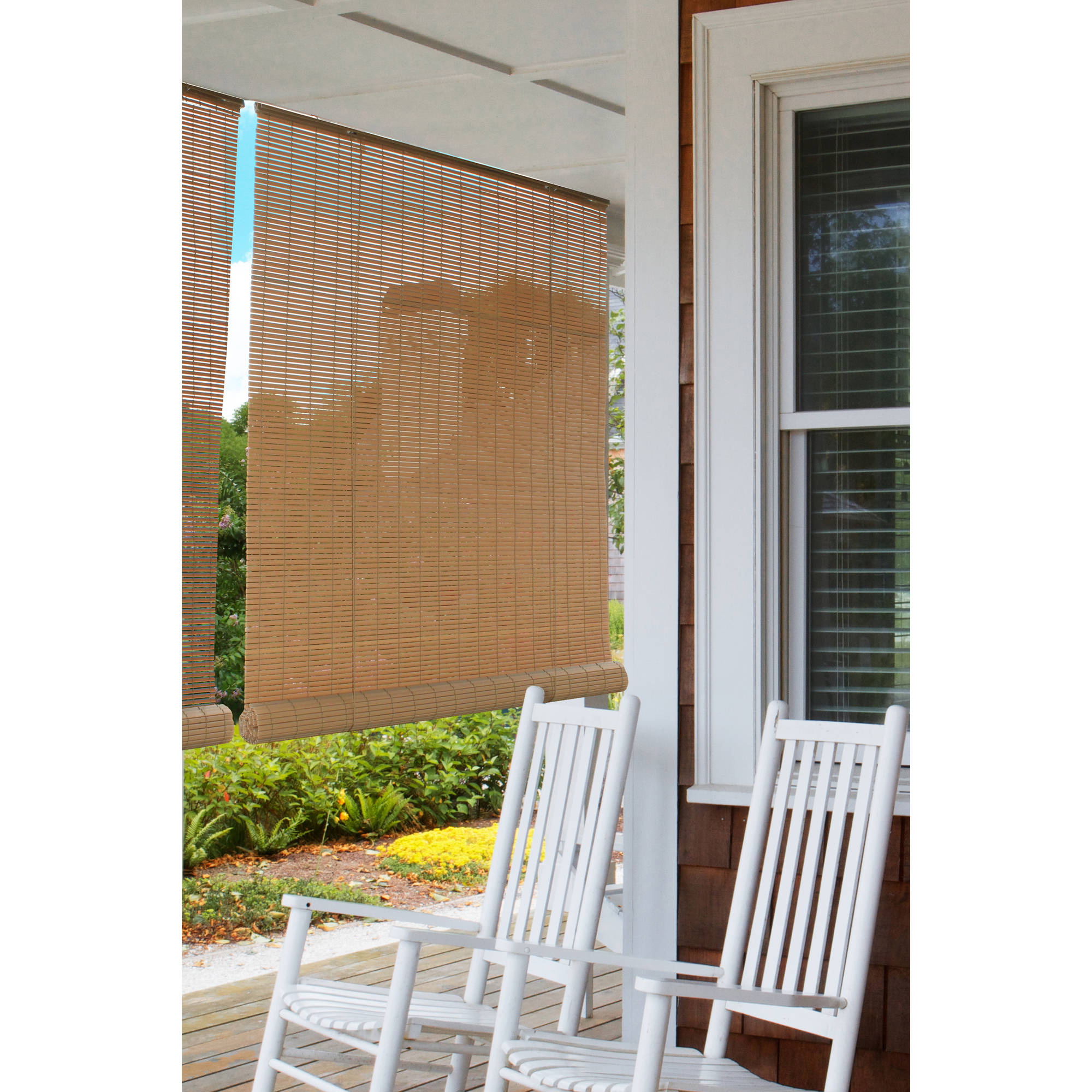 PVC Window Blind Shade, Woodgrain