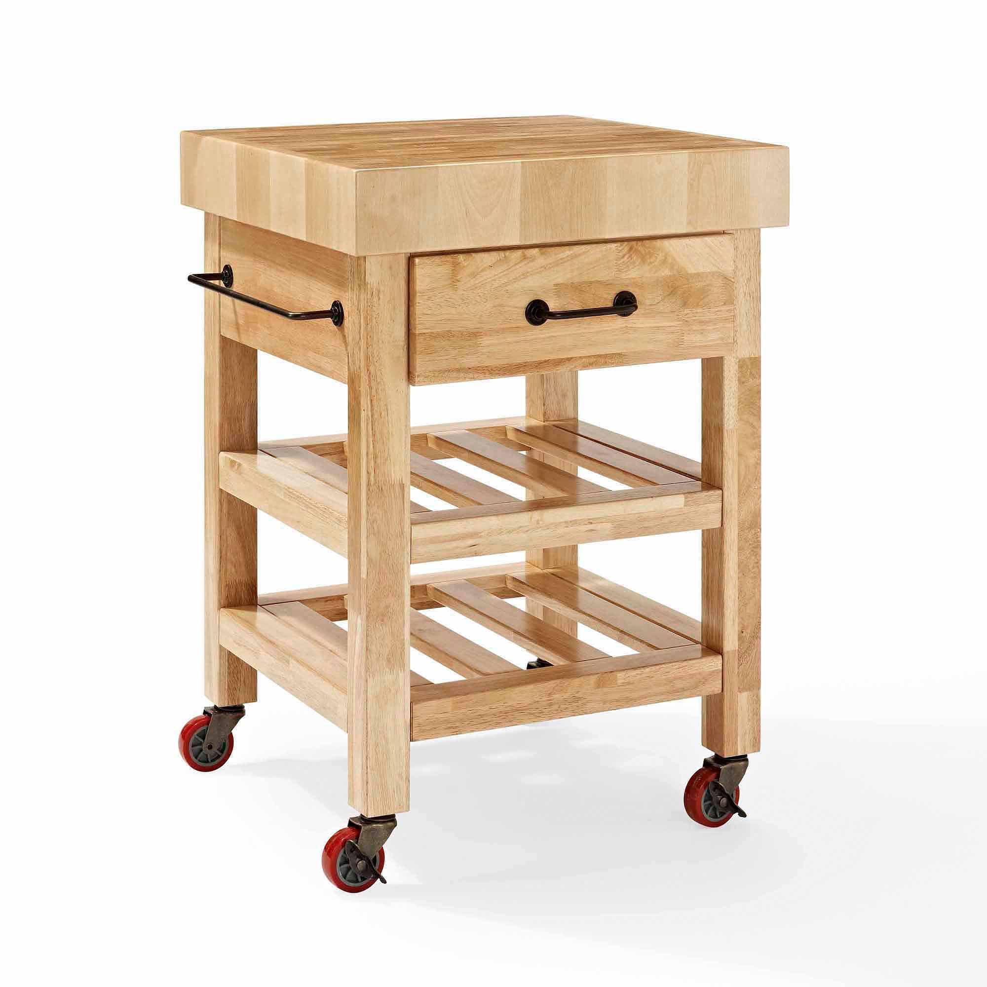 Beautiful Crosley Furniture Marston Butcher Block Kitchen Cart   Walmart.com