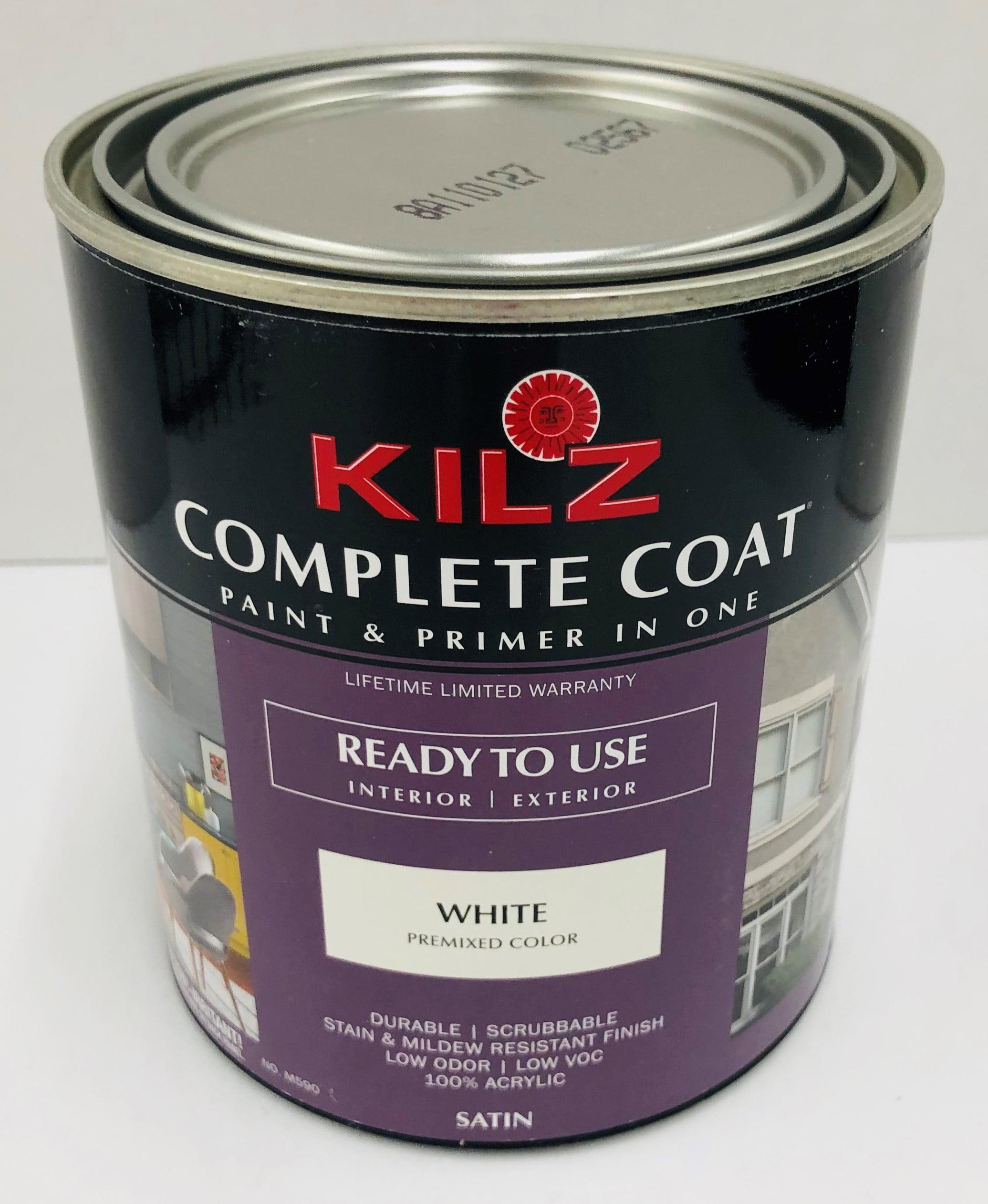 Kilz Complete Coat White Satin Qt