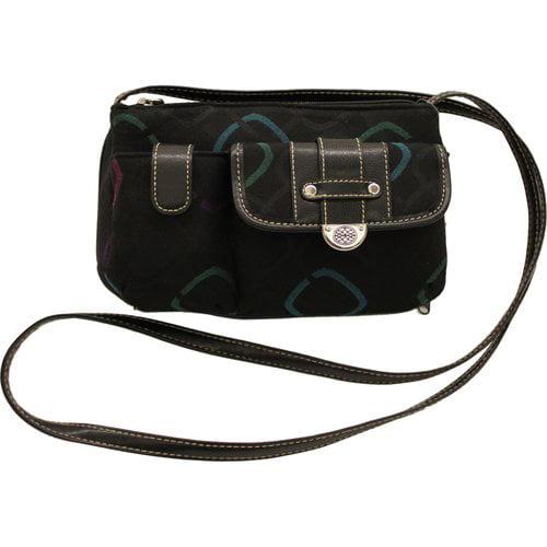 George Women's Mini Handbag, Black Multi-Color