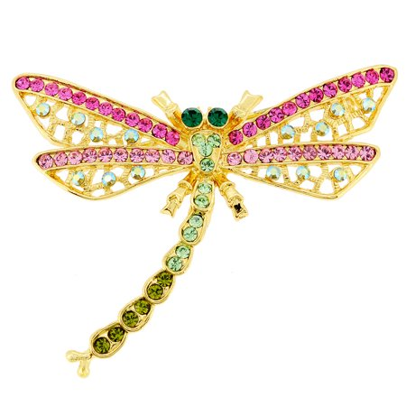 - Mutlicolor Dragonfly Crystal Pin Brooch And Pendant