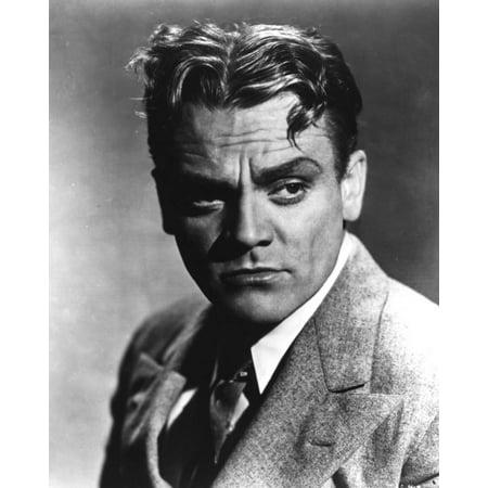 Linen Silk 2 Button Suit (James Cagney Portrait in Grey Linen Suit and Black Silk Necktie Print Wall Art By Movie Star News )