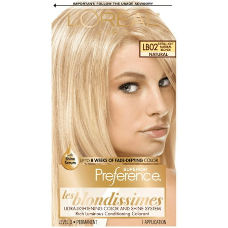 3 Pack - L'Oreal Superior Preference Les Blondissimes, LB02 Extra Light Natural Blonde (Natural) 1