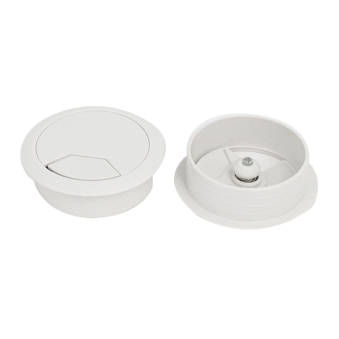 Ordinateur Bureau Plastique Rond illet Cable Filaire Couvre-trou Blanc 50mm Diamètre 10pcs - image 1 de 3