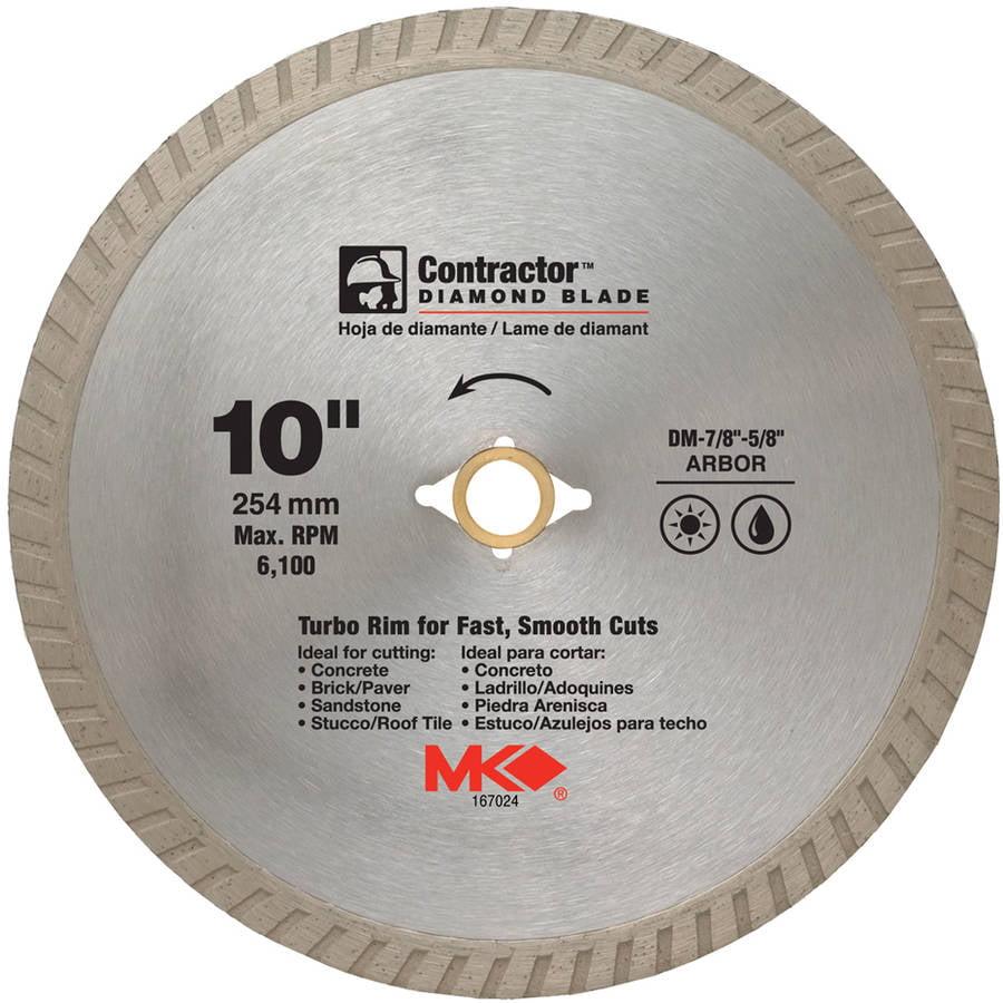 "MK Diamond 167024 10"" Contractor Diamond Blade"