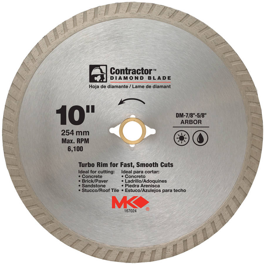 "MK Diamond 167024 10"" Contractor Diamond Blade"