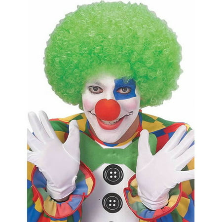 Clown Curly Afro Adult Costume Neon Green Wig