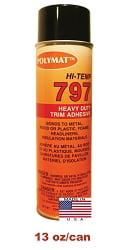 1: 20oz Can (13oz net) Polymat 797 Hi-Temp Spray Glue Adhesive: Industrial Grade High Temperature Glue, Heat... by Polymat